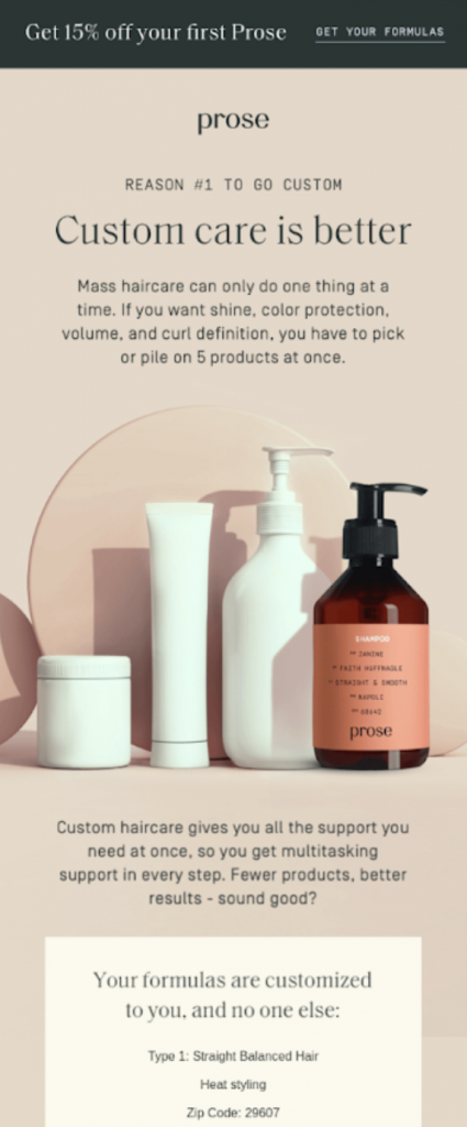 beauty and cosmetics email marketing